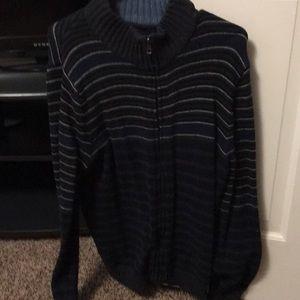 Mens dbl zip sweater